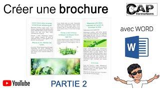Comment réaliser une brochure 3 volets avec Word ? (partie 2)
