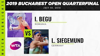 Irina-Camelia Begu vs. Laura Siegemund 2019 Bucharest Open Quarterfinals WTA Highlights