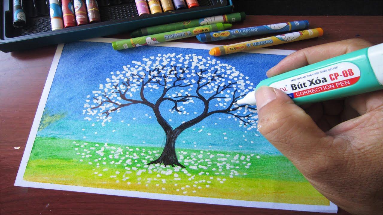 Vẽ lại những bức tranh triệu view trên mạng với màu sáp thường