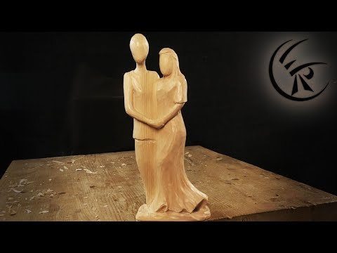 """Woodcarving """"simple Couple"""" ►► Timelapse"""
