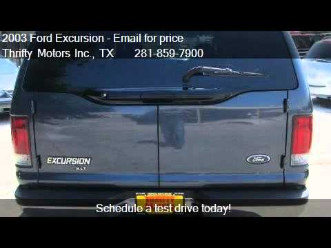 2003 ford excursion xlt for sale in houston tx 77084 at for Thrifty motors houston tx 77084