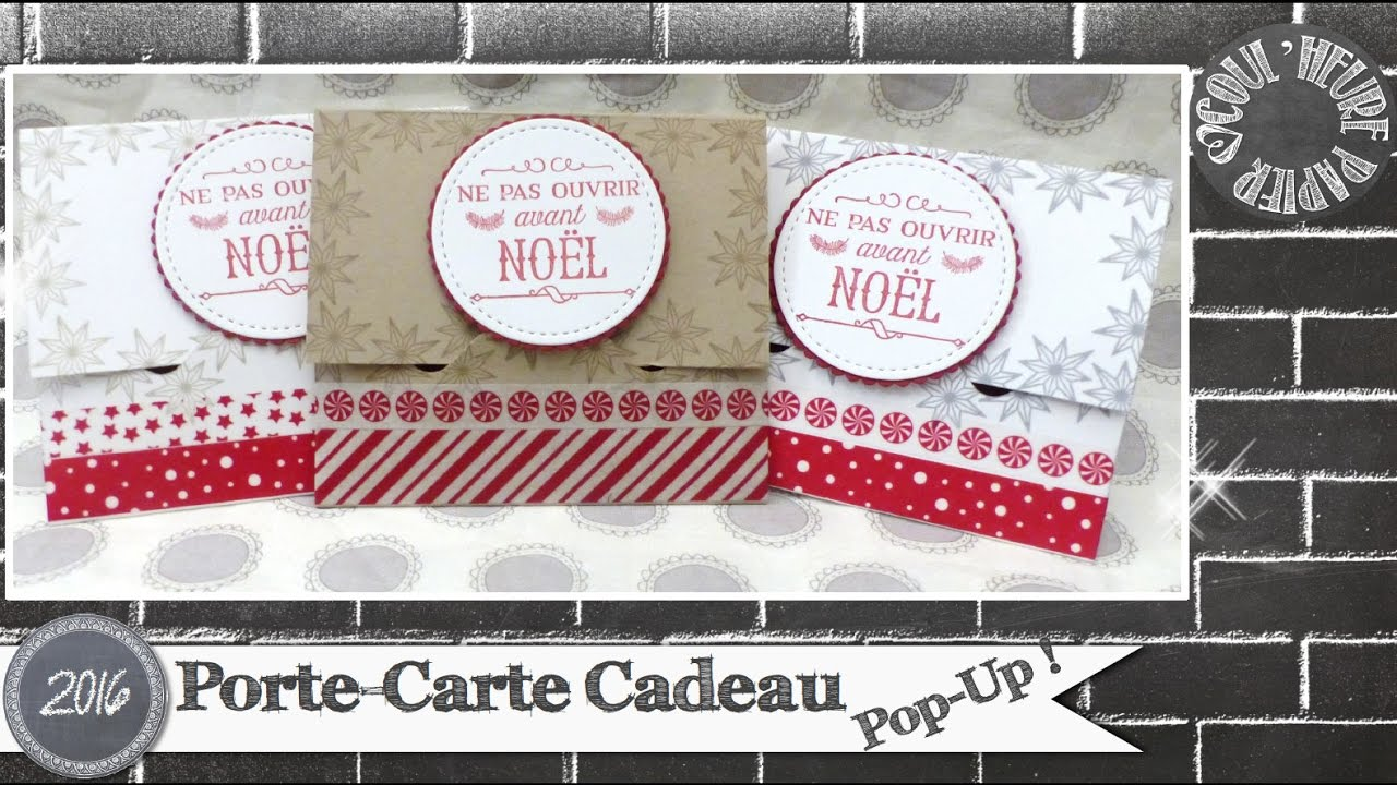 Carte Cadeau Up.Video Tuto Porte Carte Cadeau Pop Up Par Coul Heure Papier