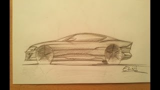 How to draw a car side view