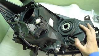 Mazda CX 5 потеет фара  Ремонт фары, замена блока розжига в фаре.  Полировка.