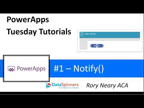PowerApps Tuesday Tutorials #1 Notify() - YouTube