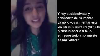 Decido Olvidar LetraElvira Morales