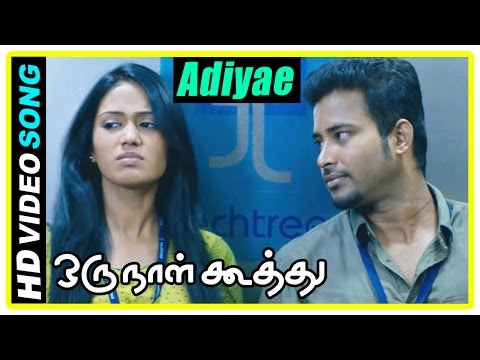 Oru Naal Koothu Tamil movie | scenes | Adiyae song | Dinesh convinces Nivetha | Mia George