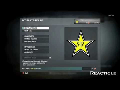 Black Ops Emblems #1-RockStar Energy Logo Tutorial (HD 720p)