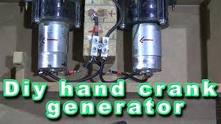 Generador manual con acumulador o banco de super capacitores