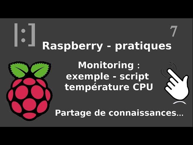 Raspberry Pi - 7. Monitoring : prometheus - ex script température CPU
