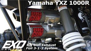 yamaha yxz 1000r big gun exhaust exo series full 3 1 2 system
