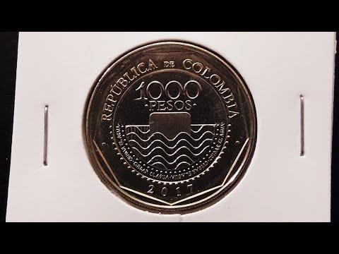1000 Pesos Bi-Metallic Coin 2017, Colombia