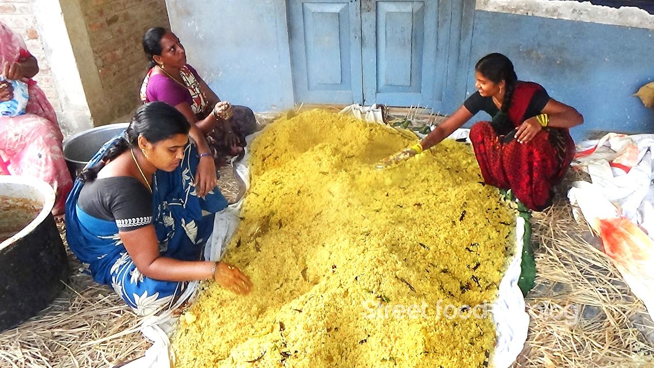 Amazing Cooking Tamarind Rice Prepared 1000 People Hindu