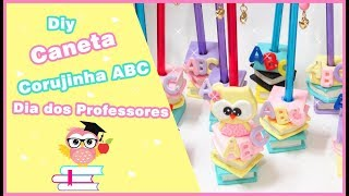 Caneta Corujinha ABC em Biscuit
