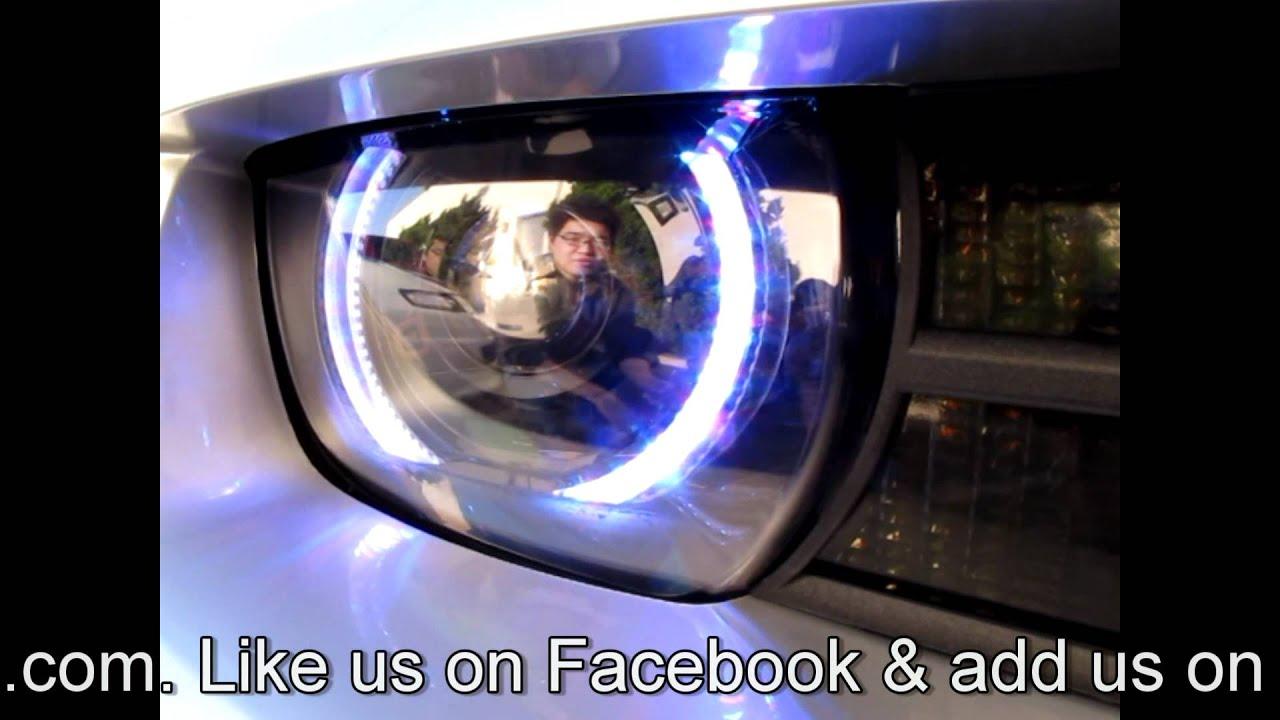Camaro RGB LED Angel Eyes Installed by JLC Lighting - YouTube