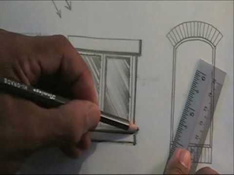 window pencil drawing. pencil rendering and shading window - part 1 drawing g