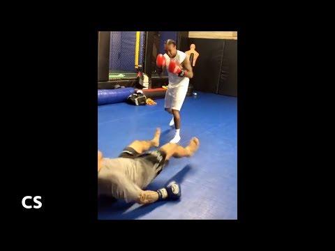 Tyga Knocks Down Sparring Partner In Boxing