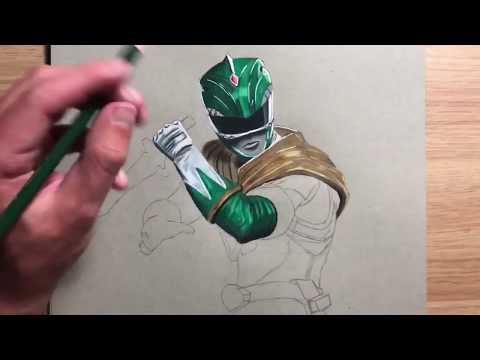 Drawing The Green Power Ranger | Timelapse | Jason David Frank | Philcharltonart
