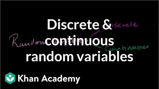 Discrete and continuous random variables | Probability and Statistics | Khan Academy thumbnail