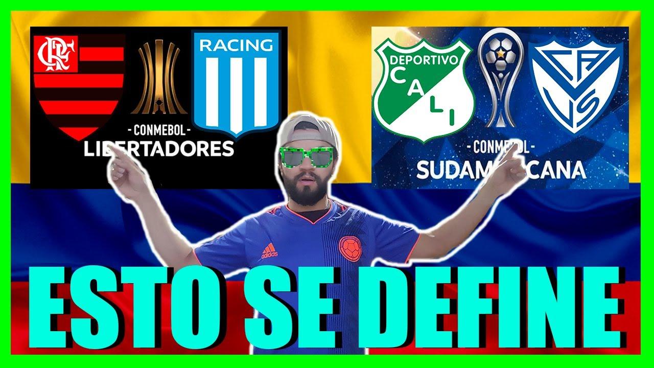 🔴EN VIVO: FLAMENGO vs RACING / CALI vs VELEZ | Libertadores / Sudamericana  REACCION DESDE COLOMBIA