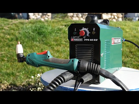 Plasma Cutter PARKSIDE PPS 40 B2 (149€) - Unboxing And Test