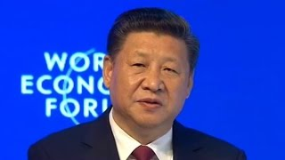 Chinese President Xi Jinping delivers keynote speech at World Economic Forum opening ceremony