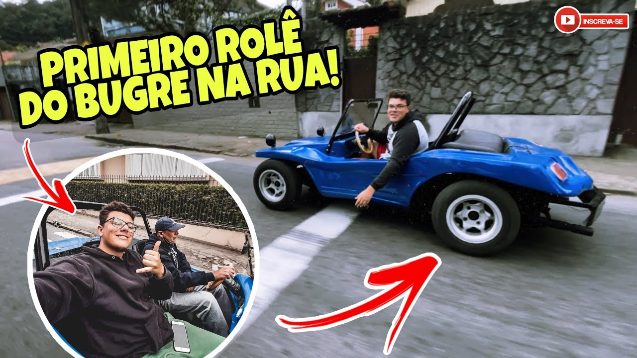 PRIMEIRA VEZ ANDANDO NA RUA COM O BUGRE REBAIXADO!!!