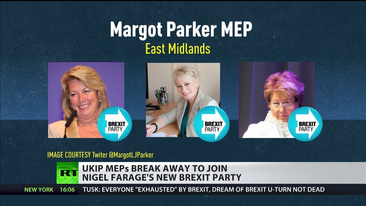 UKIP MEPs break away to join Nigel Farage's new Brexit Party