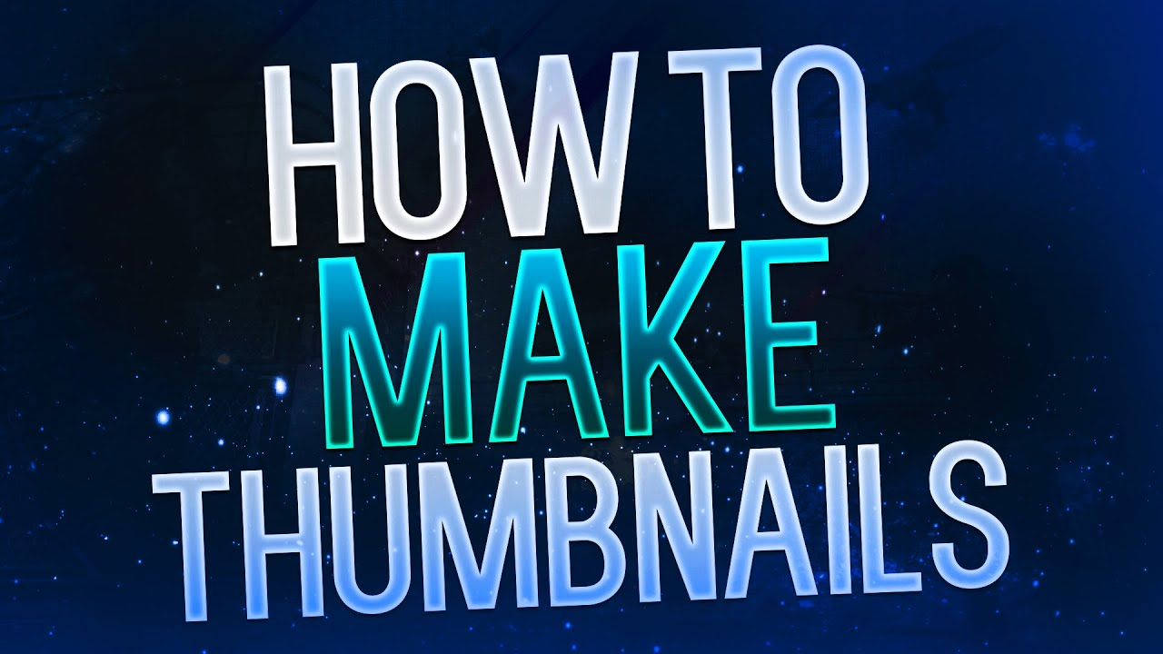 How to Make Thumbnails for YouTube Videos 2015! Photoshop ...