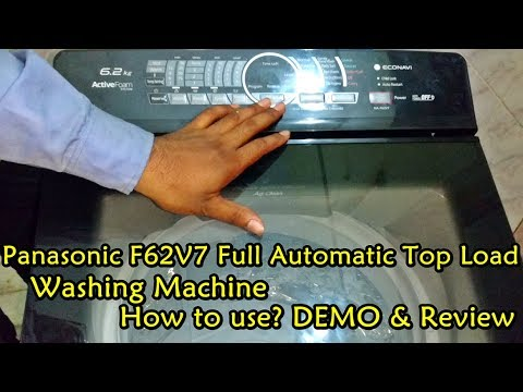 Panasonic NA-F62V7 Full Automatic Top Load Washing Machine DEMO / How to  Use?