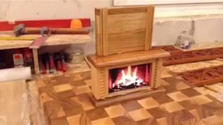 Back of fireplace