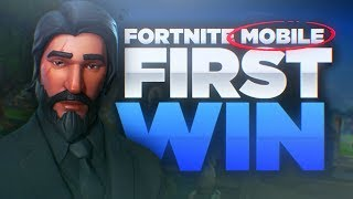 Fortnite Mobile - SOLO WIN - First Place Victory in Mobile Fortnite - iOS Gameplay