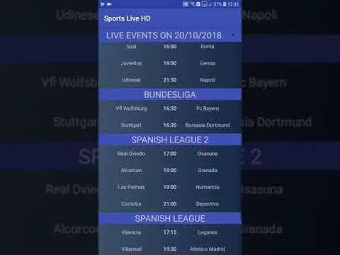 Sports Live HD V1.6 : Watch live sports events on your mobile HD !