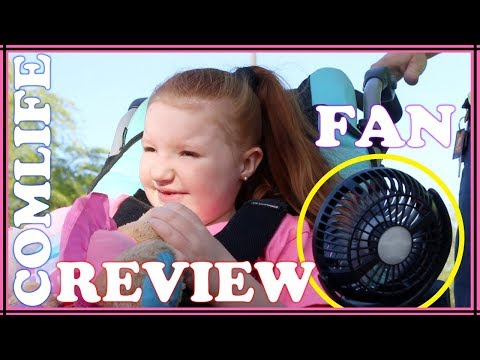 COMLIFE: Clip On Rechargable Fan Review! (GREAT FOR WHEELCHAIRS!)