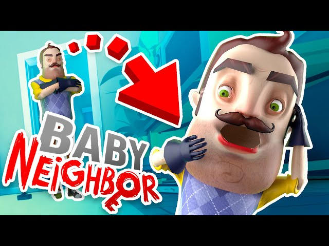 NEW Turning the NEIGHBOR into A BABY to ESCAPE!?!! (Baby Hands VR Hello Neighbor)