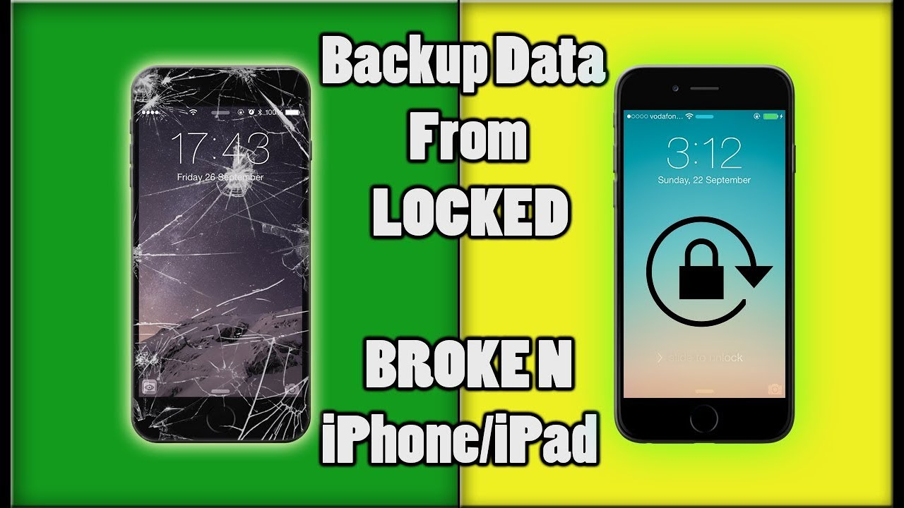 How to Backup Data Broken iPhone/iPad Without iTunes | Backup Data from  Locked iPhone