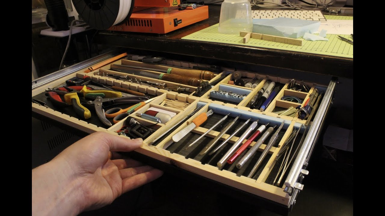 Under Desk Tool Drawer Modeller S Delight Youtube