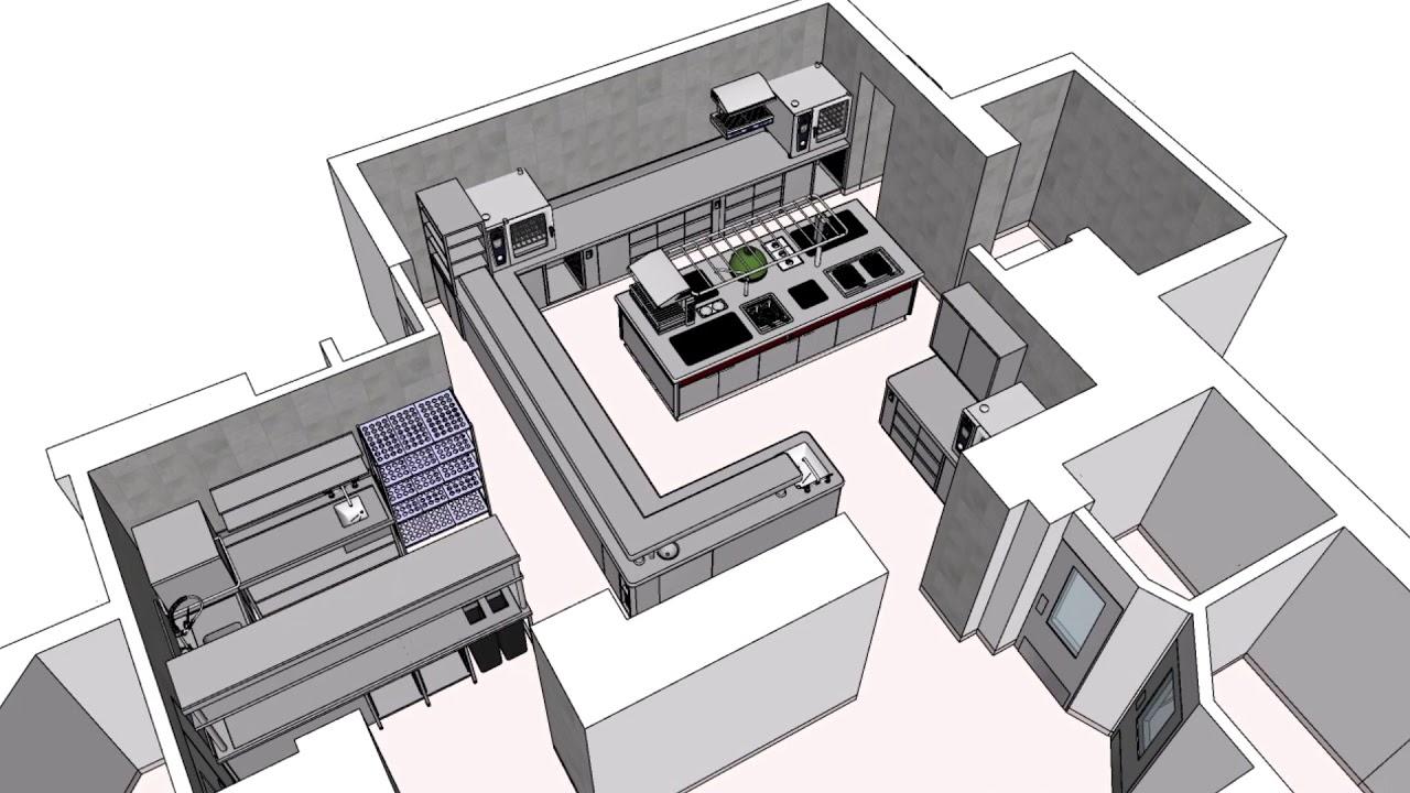 Small Restaurant Kitchen 9D Design & Layout Process