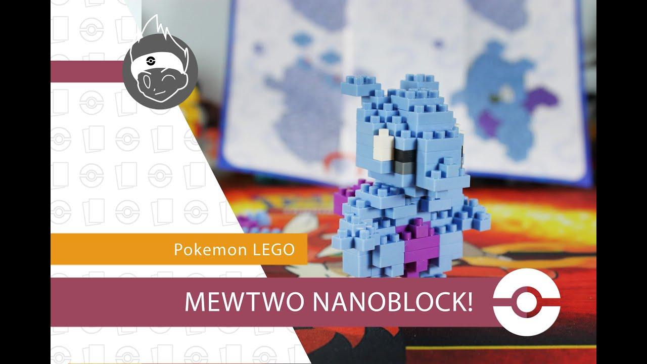 Building A Lego Pokemon Mewtwo Nanoblock Youtube
