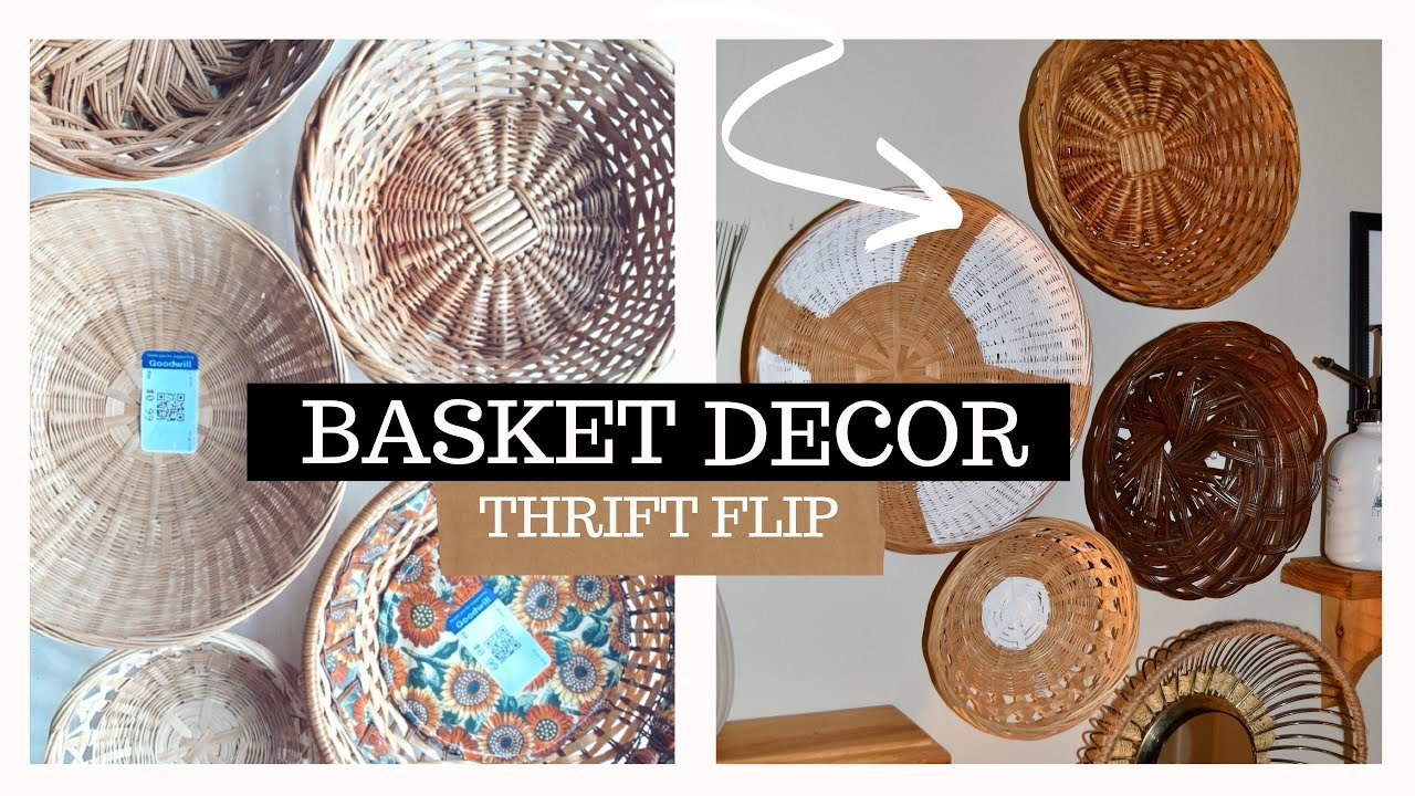 DIY Thrift Flip 2 // Decorative Wall Baskets