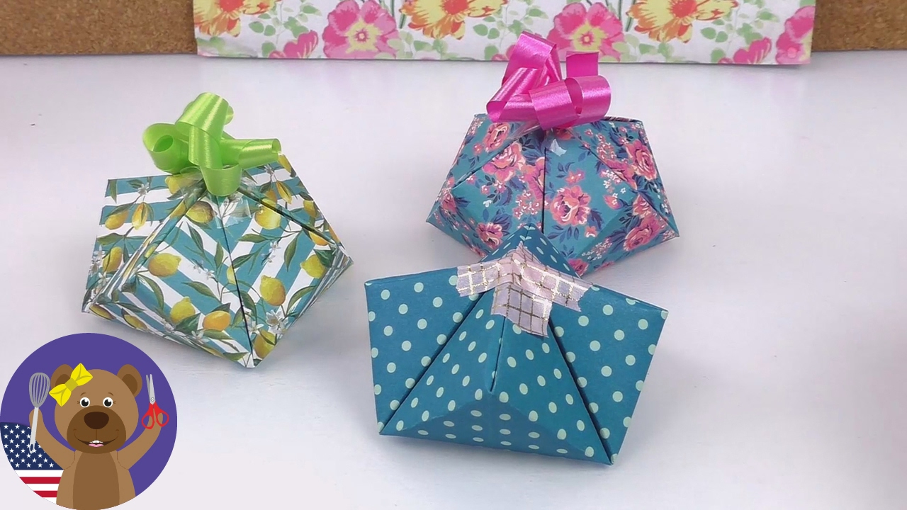 cute gift wrapping idea easy and quick gift box diy gifts youtube