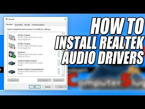 How To Install Realtek HD Audio Drivers In Windows 10 Tutorial