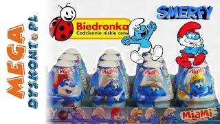 Smerfy  Jogurty Miami z niespodziankami  Zabawki z Biedronki