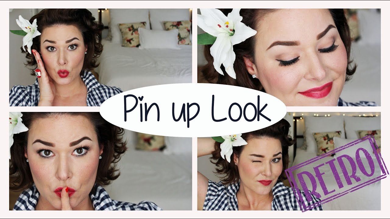 Pin Up Make Up Tutorial I Retroperspektive Youtube