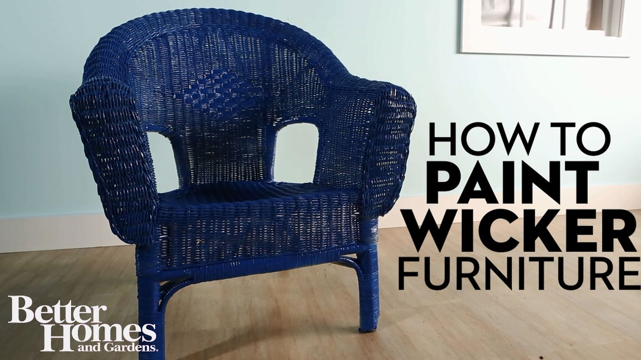 How To Paint Wicker Furniture   YouTube