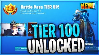 UNLOCKING TIER 100 SKIN IN FORTNITE BATTLE ROYALE