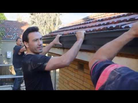 The Home Team Stratco Installing Gutters Youtube
