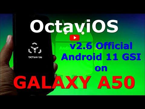 OctaviOS v2.6 Official on Samsung Galaxy A50 - Android 11 GSI