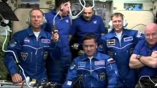 New Crew Welcomed to the Space Station