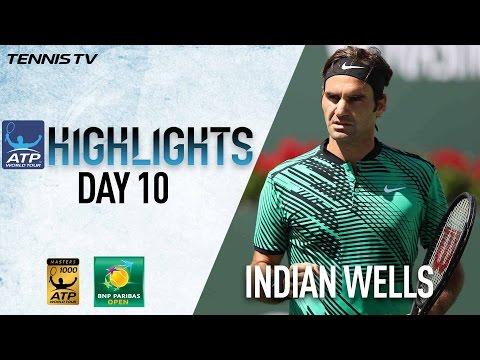 Highlights: Federer, Wawrinka Advance To Indian Wells Final
